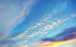 Picture sunset, the evening, the sky. clouds