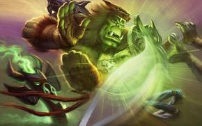 Picture blow, Orc, wow, world of warcraft, shaman, totem, ork, shaman, stoneskin Totem