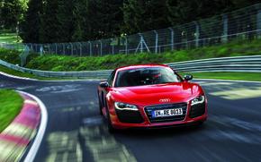 Wallpaper V10, Track, Red, Trees, E-Tron, Speed, Before, Audi