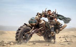Picture look, fiction, dust, armor, art, guy, Motorex