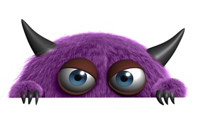 Picture eyes, funny, creature, claws, evil look