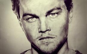 Wallpaper portrait, figure, Leonardo DiCaprio, art