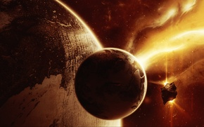 Picture space, fire, planet, Object