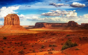 Wallpaper Desert, Rocks, The sky