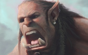 Picture face, face, art, Creek, warcraft, orcs, cry