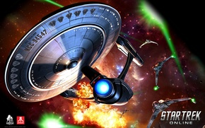 Picture space, ship, Star Trek