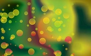 Picture light, bubbles, blur, the air