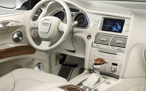 Wallpaper Audi, leather, white