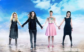 Picture beach, the sky, The series, actors, Movies, Orphan Black, Dark child