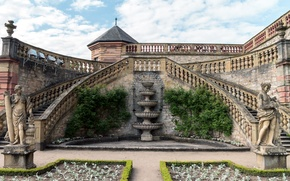 Picture design, Germany, stairs, fortress, sculpture, Marienberg, Marienberg Fortress
