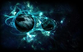 Picture stars, planet, phenomenon