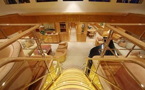 Picture interior, yacht, mega, Luxury, motor, main saloon