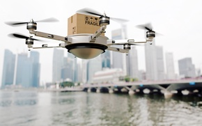 Wallpaper project, drone, delivery