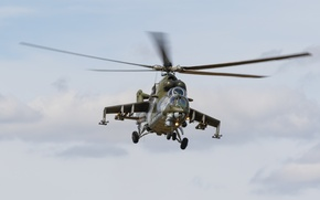 Wallpaper helicopter, transport-combat, Mi-24V