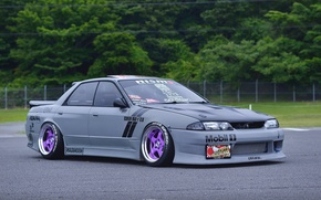 Picture nissan, turbo, wheels, skyline, japan, jdm, tuning, gtr, front, face, racing, r32, nismo, datsun