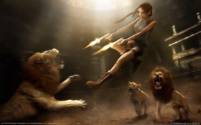 Picture shooting, Lara Croft, tomb raider: anniversary