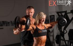 Picture muscle, men, blonde, bodybuilding, Kate Kyptová