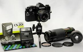 Picture background, flash, ring, the camera, mirror, 35mm, tripod, film, teleconverter MC4 Osawa, lenses Mamiya-Sekor E …