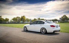 Picture BMW, white, F10, 550i