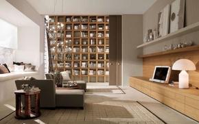 Wallpaper design, style, room, interior, library, living room