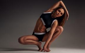 Picture woman, pose, workout, yoga, sportswear, elongation