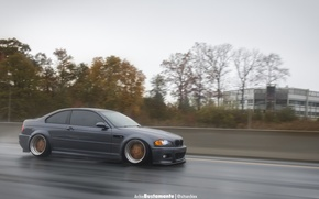 Picture bmw, tuning, germany, low, evil, stance, e46