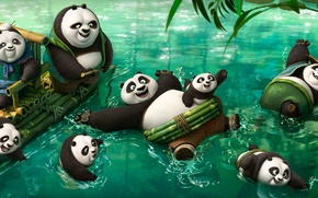 Picture Action, Nature, Water, DreamWorks, Men, Girls, Wallpaper, Family, Old, Women, Kung Fu Panda 2, River, …