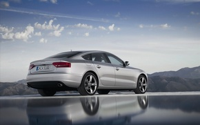 Wallpaper Audi, audi, metallic, landscape, machine
