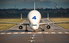 Picture the plane, the airfield, jet, cargo, Beluga, widebody, A300-600ST