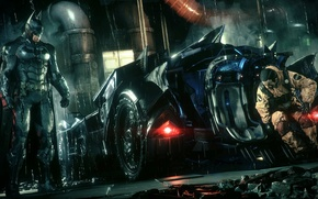 Picture City, Batman, Batmobile, Batman, Arkham Knight