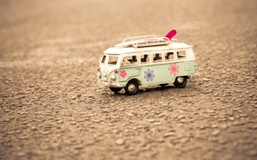 Wallpaper asphalt, macro, background, earth, widescreen, Wallpaper, mood, toy, wallpaper, bus, widescreen, background, full screen, HD ...