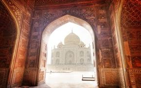 Picture landscape, India, Taj Mahal, mosque