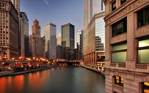 Picture the city, skyscrapers, Chicago, USA, Il, Chicago, Illinois