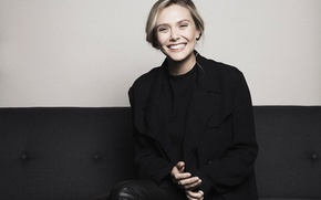 Wallpaper Francois Berthier, Elizabeth Olsen, Elizabeth Olsen, actress, smile, mood, photographer, model