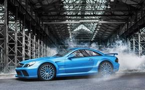 Picture blue, Mercedes-Benz, AMG, blue, Mercedes Benz, SL-class, profile, Aksyonov Nikita Andreevich