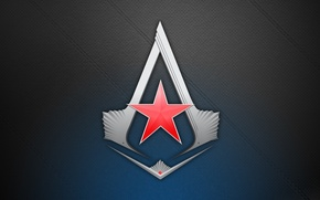 Wallpaper sign, the game, star, logo, game, red, assassin's creed, assassin's creed 3, assassins creed 3, ...