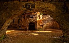 Picture interior, arch, Romania, blast furnace, Ghelari