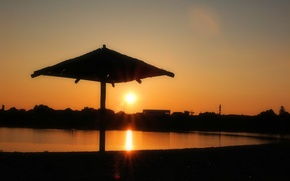 Picture yellow, sunset, sun