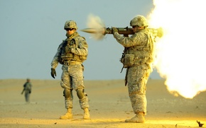 Picture shot, soldiers, United States Army, AT-4, anti-tank weapons