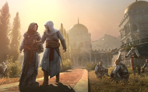 Wallpaper Assassin's Creed, the city of Masyaf, Altair Ibn La-Ahad — assassin, the protagonist of the ...