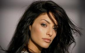 Picture look, makeup, actress, brunette, hair, Erica Cerra, Eric Serra