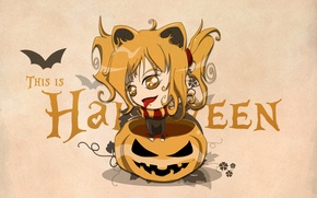 Wallpaper eyes, pumpkin, halloween, gold
