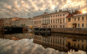 Wallpaper home, reflection, river, Saint Petersburg