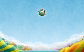 Picture earth, bird, wings, Tiny Wings