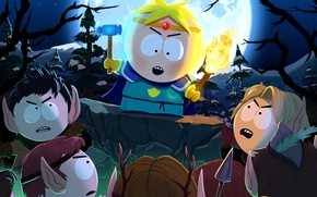 Picture elves, hammer, torch, South Park The Stick Of Truth, Butters