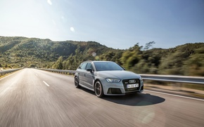 Picture movement, Audi, speed, track, Sportback, RS3