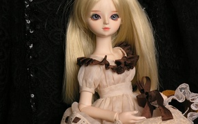 Picture doll, blonde, doll, BJD