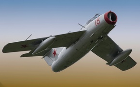 Picture fighter, jet, Soviet, The MiG-17