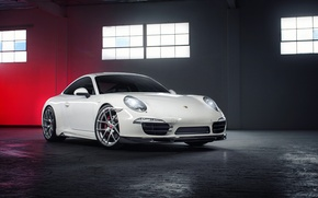 Picture Porsche, white, Porsche, Coupe, Carrera, Edition, 991, frontside, V-GT