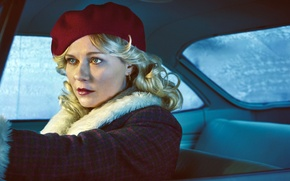Wallpaper auto, girl, Kirsten Dunst, frame, blonde, the series, salon, Thriller, coat, takes, crime, TV Series, ...